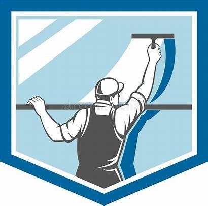 Window Cleaning Cleaner Washer Limpieza Fensterputzer Retro