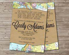 1000 images about bridal shower on pinterest themed With free printable travel themed wedding invitations