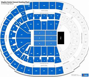 Staples Center Seating Charts For Concerts Rateyourseats Com