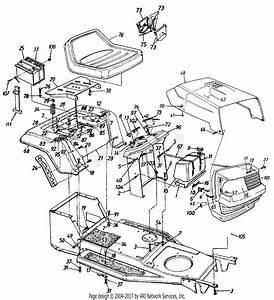 Mtd 13ah451e062  1997  Parts Diagram For Seat  Battery
