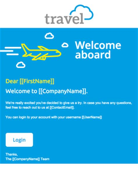 welcome email template responsive email templates