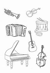 Coloring Pages Instrument Instruments Musical Coloringtop sketch template