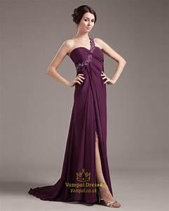 Purple One Shoulder Maxi Dress,Purple Prom Dresses UK ...