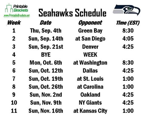seahawks schedule seattle seahawks schedule