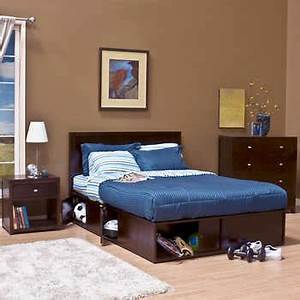 Modeno 3-piece Full Storage Bed Set