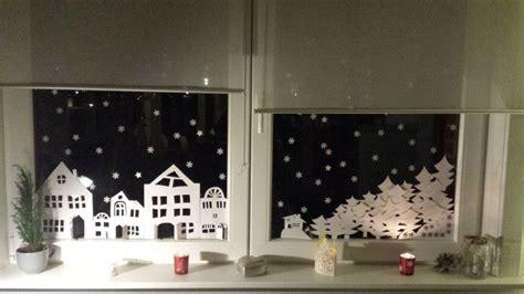 Fensterdeko Weihnachten Haus by Fensterbild Winterlandschaft Zum Ausdrucken Is