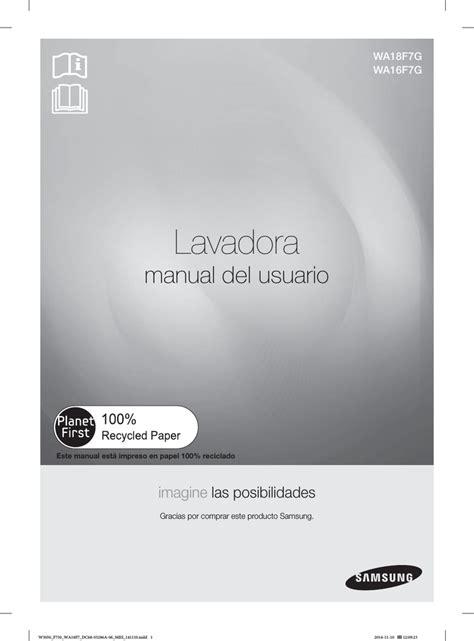 Samsung WA16F7G4UWW/AP Manual de usuario manualzz com