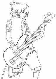 Playing Bass Guitar Drawing