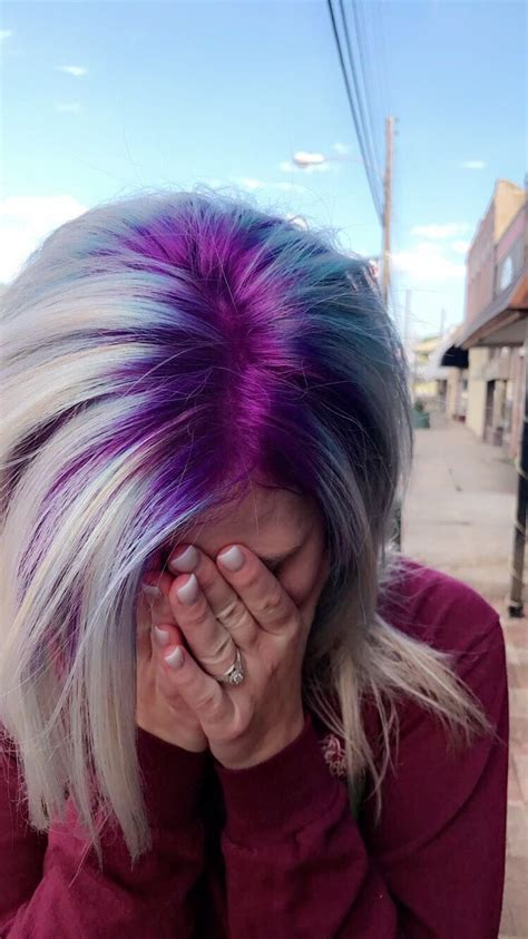 Purple Shadow Roots By Alean Powell Cosmetology ️ Hair