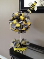 1st Bee-day party centerpiece. Birthday party for bumble ...