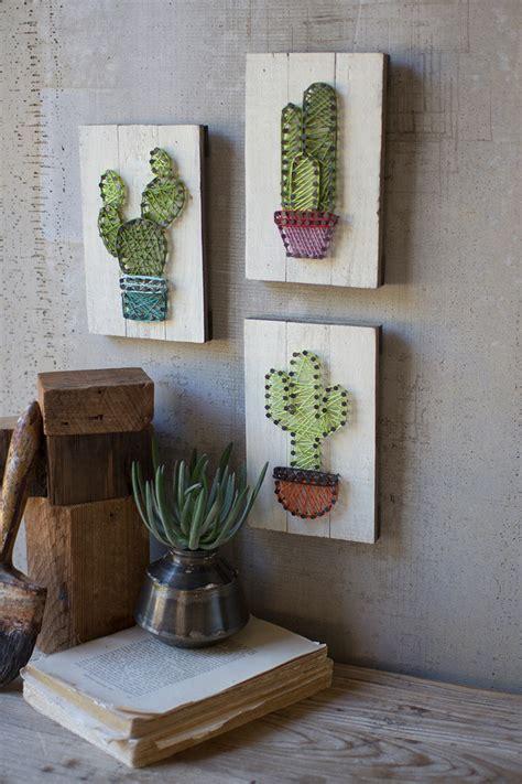 set   cactus string art  wooden plaques