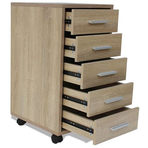 bureau a tiroir acheter vidaxl caisson à tiroir de bureau avec roulettes 5