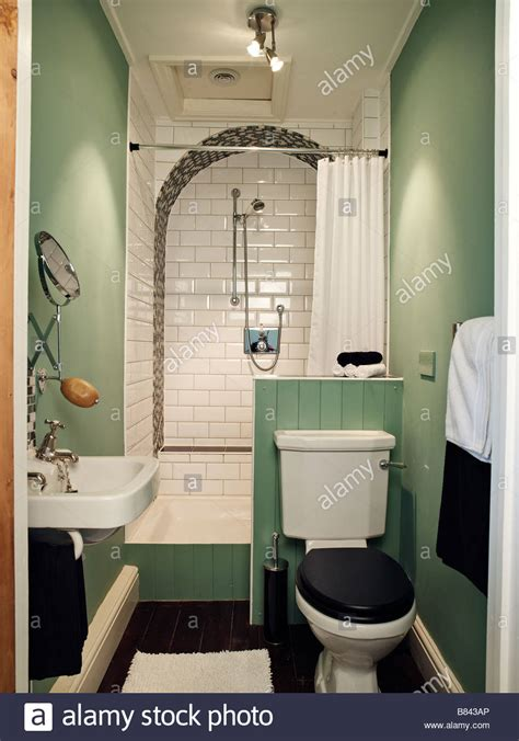 Small Bathroom Sink And Toilet by Small Bathroom With Shower Toilet And Sink Stock Photo