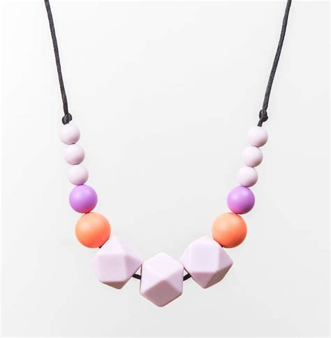 Teething Necklace Silicone Beads Style 122 Unique Baby