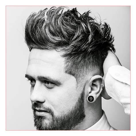 Men Hairstyles Round Face as well as Low Skin Fade with