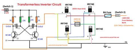 Simple Transformer Less Inverter Circuit Watt Diy