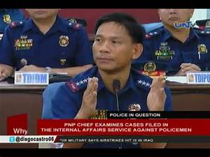 PNP chief examines cases filed in the internal affairs ...