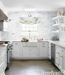 Beautiful White and Gray Kitchen - The Inspired Room