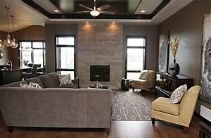 decoration salon moderne gris - Deco Maison Moderne