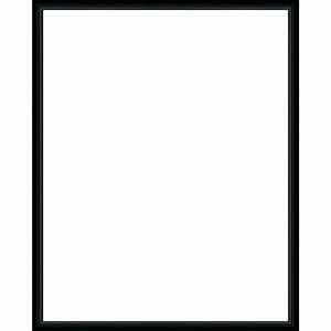 Cadre Noir Et Blanc : cadre photo sur mesure en aluminium noir avec plexiglas et dos sur cadre ~ Teatrodelosmanantiales.com Idées de Décoration