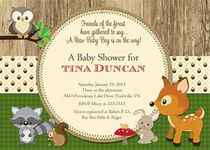 Woodland Animals Forest Baby Shower Invitation by ...