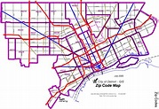 Detroit Zip Code Map large map | Zip code map, Map, Coding