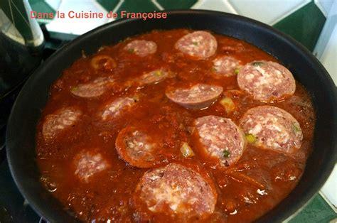 recette cuisine lyonnaise spaghettis au saucisson de lyon dans la cuisine de françoise