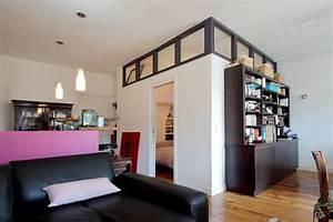 une chambre au milieu du salon architecture d39interieur With faire une chambre dans un salon