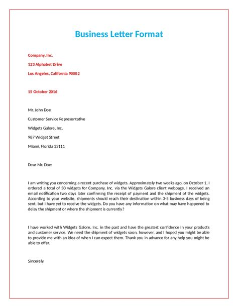 formal official letter format letters  sample letters