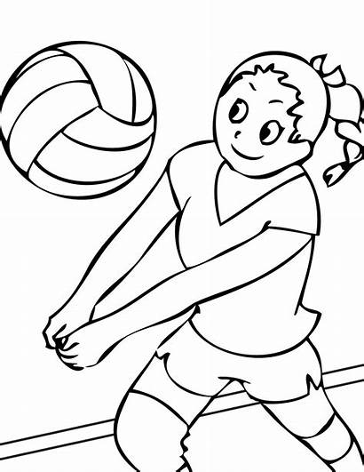 Coloring Sports Pages Sport Printable Playing Ball