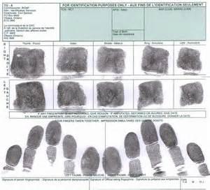 Police Fingerprint Form