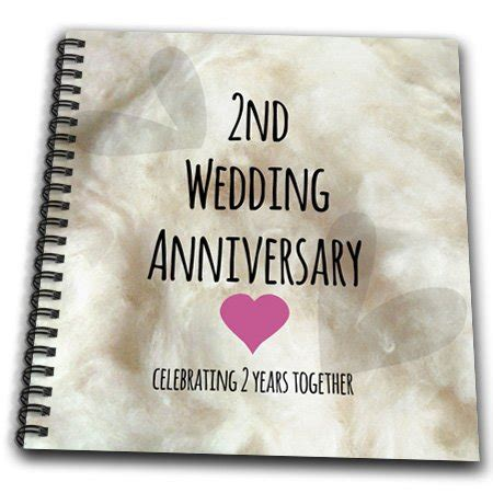 2nd wedding anniversary gift 3drose db 154429 1 2nd wedding anniversary gift cotton celebrating 2 years together second