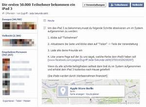 Paypal Freunde Einladen : fake veranstaltung die ersten oder teilnehmer bekommen ein ipad 3 mimikama ~ Orissabook.com Haus und Dekorationen