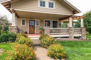 Exterior Nice Home Design With Front Porch Designed