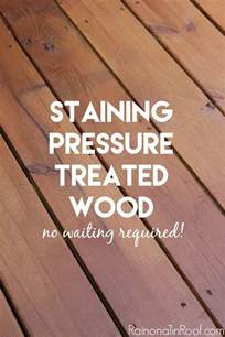 staining pressure treated wood