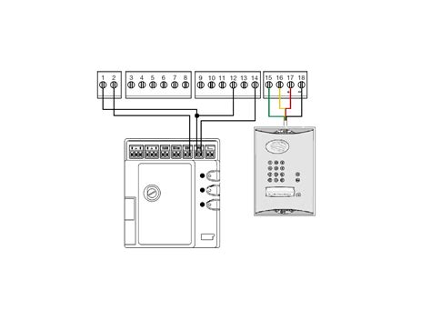 M And Intercom Wiring Diagram by Daitem To Mhouse Simplified Wiring Diagram Easygates Manuals