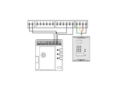 daitem to mhouse simplified wiring diagram