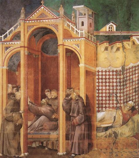 file giotto legend of st francis 21 apparition to fra agostino and to bishop guido of