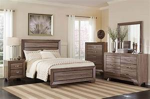 Rolwing Rustic Taupe Contemporary Bed Collection