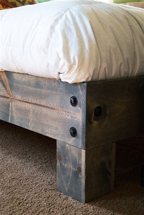 diy platform bed salvaged door headboard part