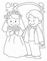 Groom Bride Coloring Pages Printable sketch template