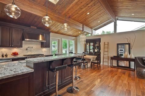 knotty pine kitchen traditional  wood ceiling freestanding gas  electric ranges