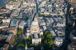 Aerial View. Aerial view of St Paul's Cathedral and ...
