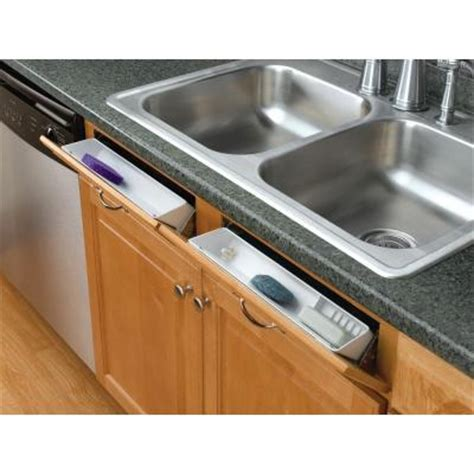 kitchen sink storage trays rev a shelf 14 in polymer tip out sink front trays 6572 5970