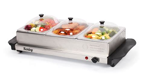 electric chafing dishes uk 4 5l kenley 3in1 buffet server plate food warmer