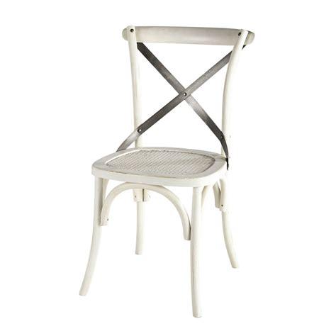 chaise bistrot blanche chaise bistrot blanche tradition maisons du monde