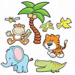 Vehicles For > Cartoon Baby Jungle Animals Clipart ...