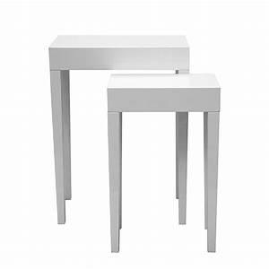 Beistelltisch Set Weiß : beistelltisch hochglanz weiss preisvergleich die besten angebote online kaufen ~ Frokenaadalensverden.com Haus und Dekorationen