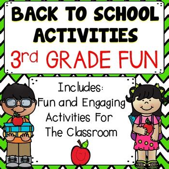 back to school activities 3rd grade by educating