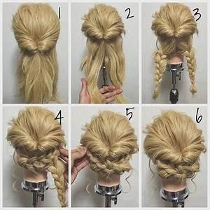 Einfache Steckfrisuren Für Schulterlanges Haar Happy